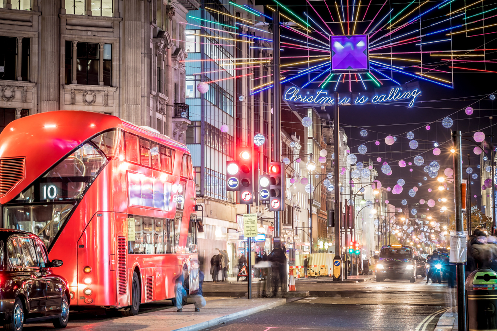 London in festive season