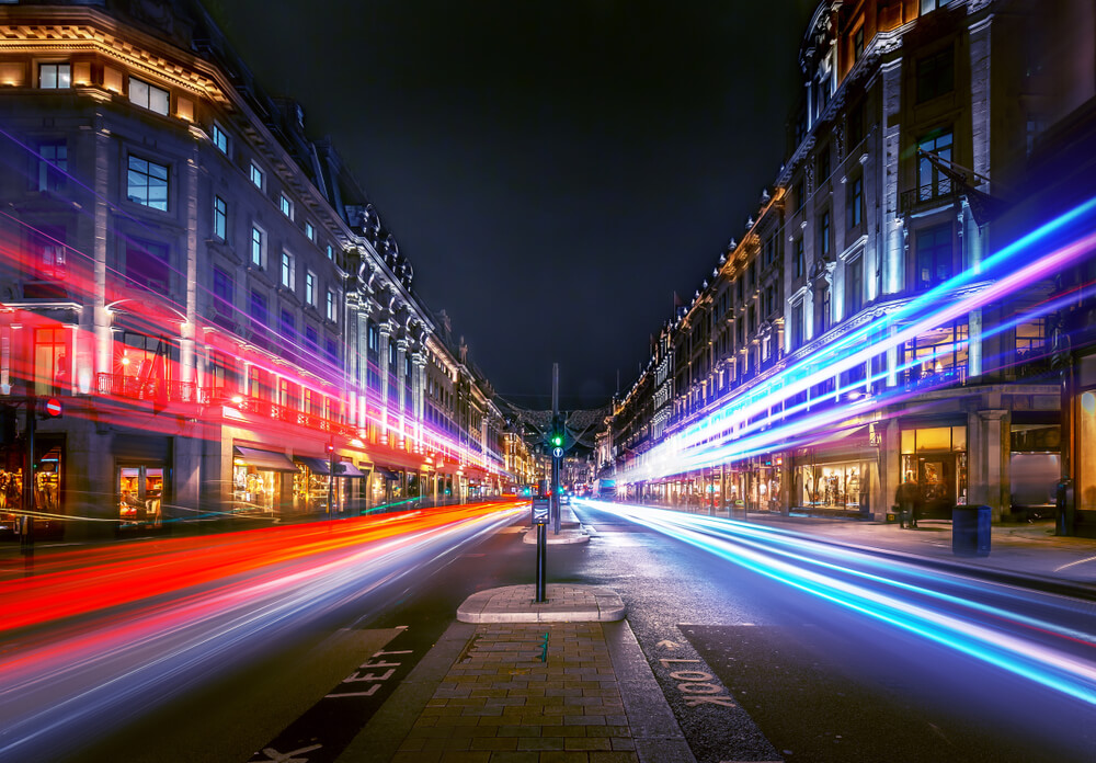 oxford street at night