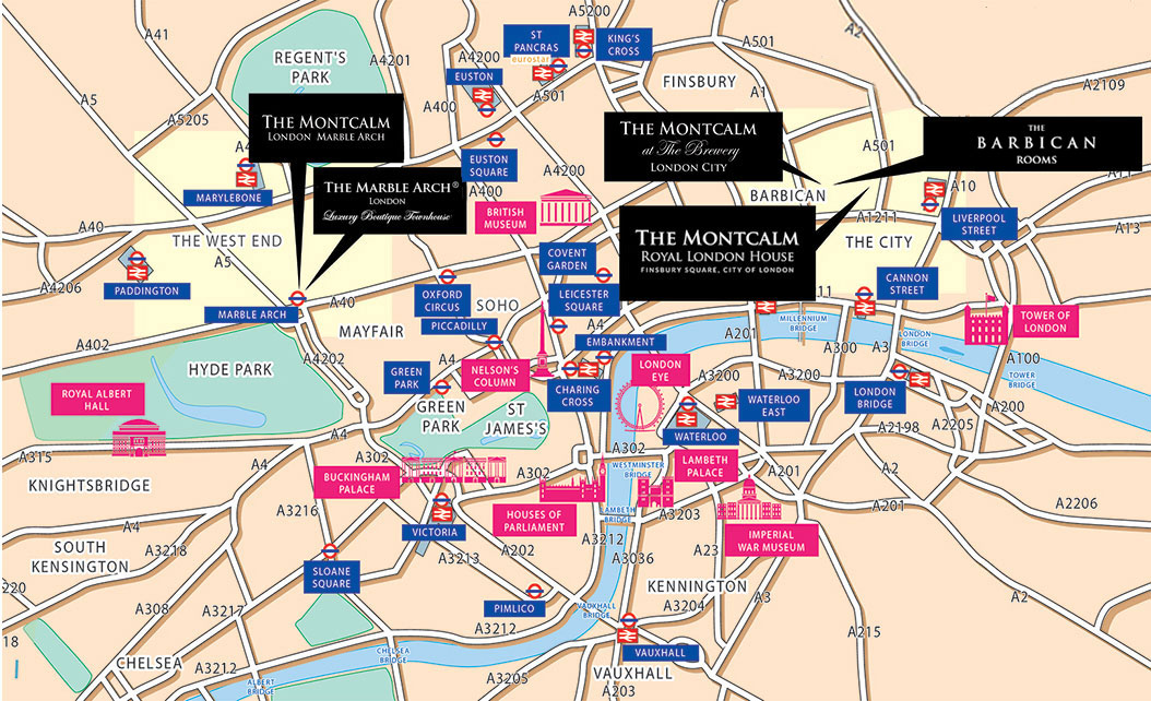 How To Reach Location And Underground Map The Montcalm Club